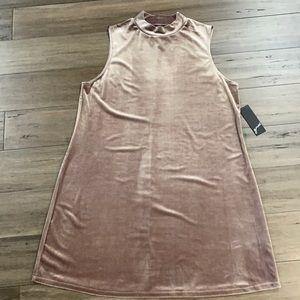 GNW pink velour sleeveless dress
